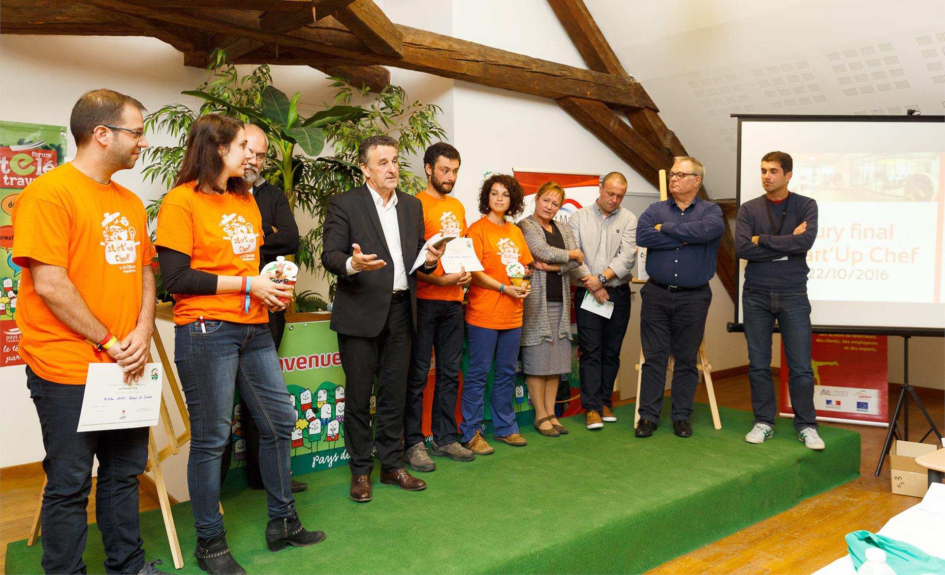 Remise des prix du concours Start Up Chef en Pays de Murat